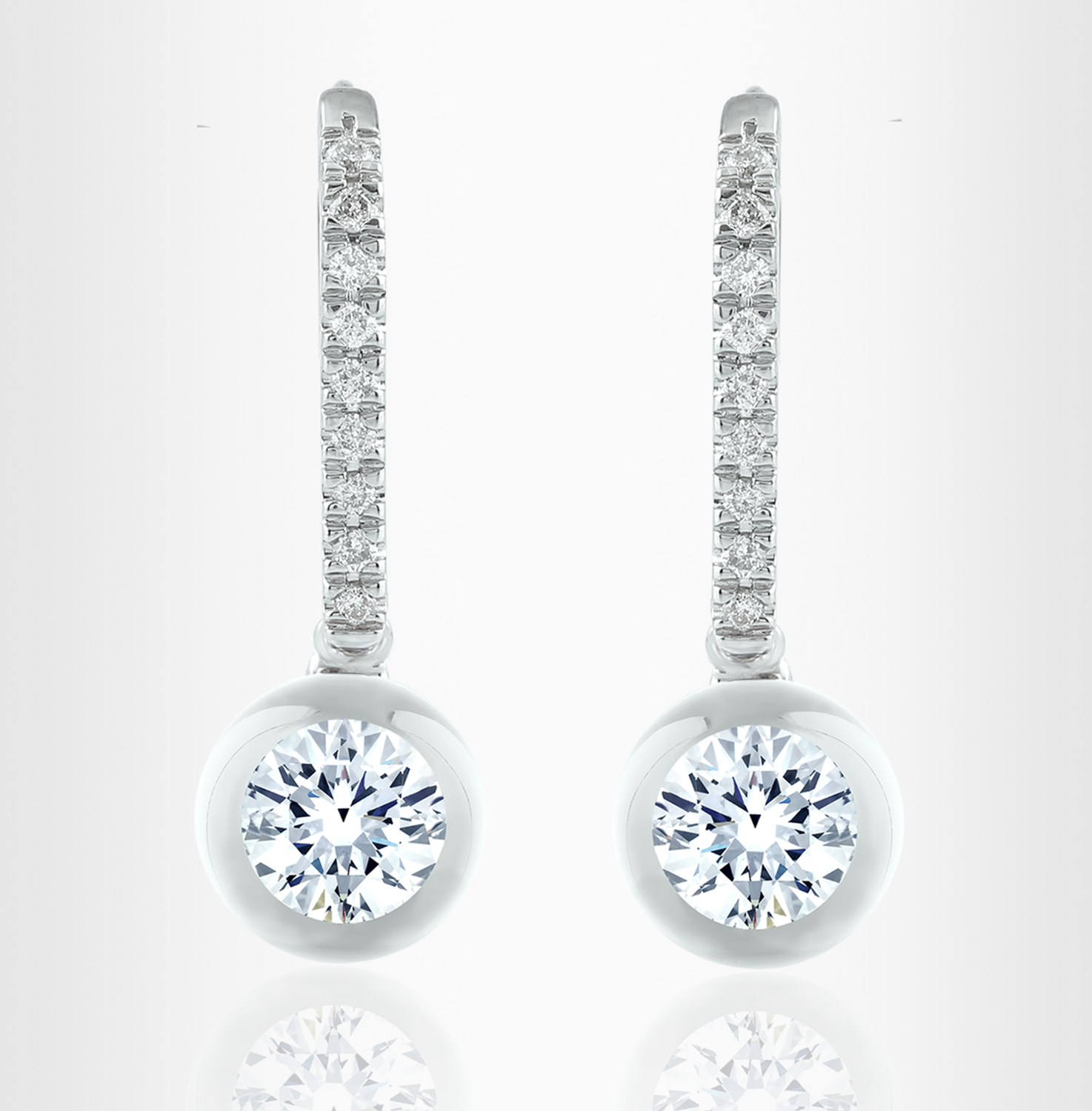 earrings cluster delp jewellery diamond