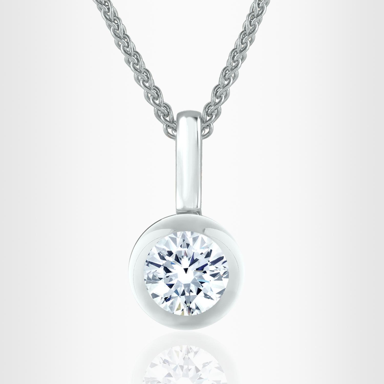 Unique illusion diamond pendants diamonds in glass kate pendant aloadofball Choice Image